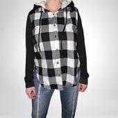 Модная комбинированная рубашка фланель фирма NO BO на выбор!