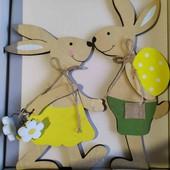 Декоративные кролики на подставках из натурального дерева,ручной работы. Германия