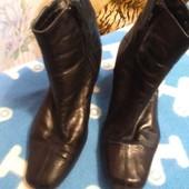 Ботинки демисезонные Clarks из экокожи по стельке 23,5 см