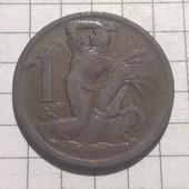 Монета Чехословакии 1 крона 1924