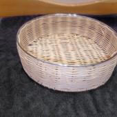 Корзинка круглая d-23,5см плетеная на металлическом каркасе Lidl