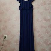 Красивое синее платье , макси ! УП скидка 10%