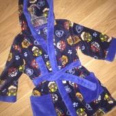 Мягкий домашний халат для мальчиков 2-3 лет