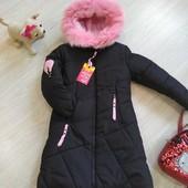♥ зимняя удлиненная куртка искра - 32 р ♥