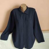 Гарна модна довга сорочка-блузка з розпорочками по боках на замочку р.18.Заміри