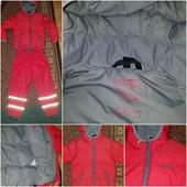 Курточка на легесенькому пуху та непромокаючі штани на флісі