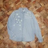 Джинсовая Рубашка Свитшот реглан кофта худи толстовка батник