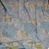 Спальный комплект king size 220*215 +2 наволочки евро, голубые пионы