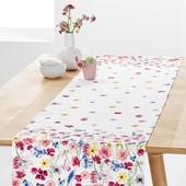 ❖Скатерть-дорожка для украшения стола с цветочным узором, от тсм Tchibo (чибо), Германия