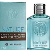 Туалетная вода ив роше Натюр 75 мл можжевельник и гваяковое дерево Nature Homme yves rocher
