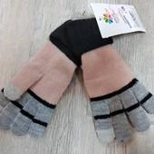 ☘ Лот 1 шт ☘ В'язані рукавички від Gina Benotti (Німеччина), розмір 5-7 років