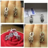 Отличный подарок! Изысканные сверкающие серебряные серьги- 925 пр. .Новые с биркой!
