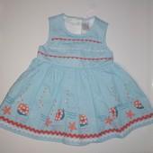 Хлопковое платье TU на малышку 3-6 М