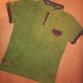 Рубашка с коротким рукавом в школу для мальчика. Рост 134,