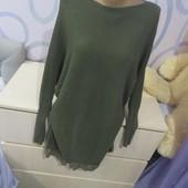 Красивый удлененный свитер-48-50р. гарн.стан.
