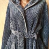 """Дуже теплющий, пухнастий, об'ємний халат з мікрофібри """" Бамбук """" Стан Нового l/xl дивіться заміри"""