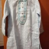 Рубашечка вышиваночка фирменная Alpana ,указано европейский р.22