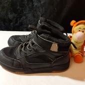 Черные термо ботинки с мембр. Waterproof, разм. 28 (17,5 см по бирке, реально 18,5 см ст.)