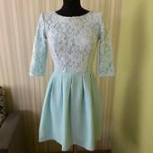 Роскошное платье с кружевом_Р,, 36
