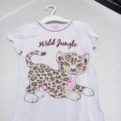 Стоп!!, Фирменная удобная яркая натуральная футболка с паетками Bio cotton