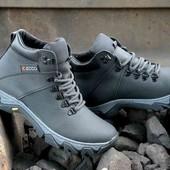 Натуральная кожа! Зимние ботинки ECCO