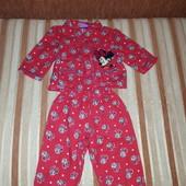 Піжамка фланелева для принцеси 6-9міс. Disney