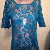 Гипюровая блузочка с замочком на спинке 10/38 размера.