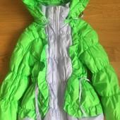 Демисезонна , тепла курточка на дівчаток!!