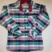 Байковая рубашка Yavrucak 5-6л, большемерит