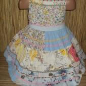 Нарядное платье next на 2-3 года
