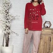 Женская тёплая пижама на флисе. Размер m, l, xl