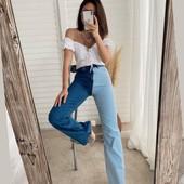 Мега крутые двухцветные джинсы. Турция, дорогая модель.