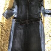 Джинсовое платье с молнией впереди!