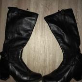 Кожаные женские сапоги 35-36рр