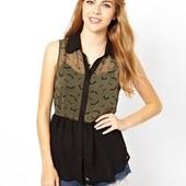 ☘ Лот 1 шт ☘ Блуза без рукавів з легкої тканини Sugarhill Boutique (Англія), рр. наш 50: хL євро