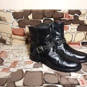 р.38 Деми ботинки кожаные на байке