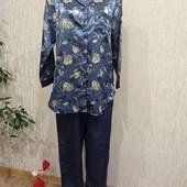 Идеальная, атласная пижама с хлопковой изнанкой!!! Размер S.