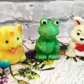 Обнова❤ Лот резиновых игрушек, зверушек, пищалки
