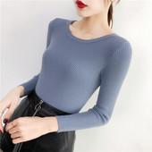 Отличный женский базовый пуловер. One size -универсальный размер