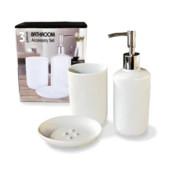 керамический набор аксессуаров для ванной комнаты. 3 предмета
