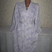 Очень нежный тёплый халат 18р., грудь 60, 85% коттон