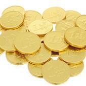 Готовим подарочки)Турция!Золотые монеты -доллар(молочный шоколад).В лоте 25 штук.