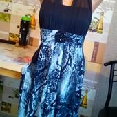 Супер ,Пог 44-55 см √√ трикотажное красивое платье ,р.16 Индонезия√√ отличное качество ,без нюансов
