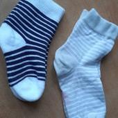 Лот 2 пары. Нежные хлопковые носочки Tchibo р.19-22