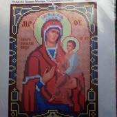 """Схема для вишивки бісером А 4 Ікона Божої Матері """"Скоропослушниця"""""""