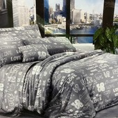 Двухспальный бязевый постельный комплект. 80% хлопок, 20% полиэстер