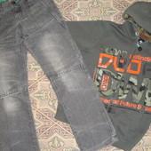 Распродажа: супер джинсы в отличном состоянии - размер 146-152, смотрим замеры