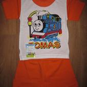 Костюм для мальчика, футболка+ шорты. На возраст 1-2 года. В наличии!!!