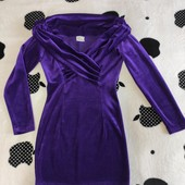 Велюровое платье, состояние нового, размер S-M