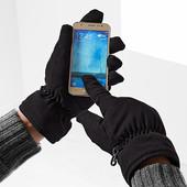 Теплые сенсорные перчатки из мягкого микрофибры и утеплены флисом Tchibo (германия) размер 9.5